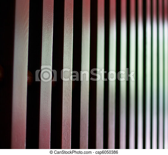 wooden fence - csp6050386