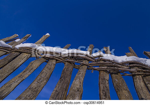 Wooden fence - csp30614951