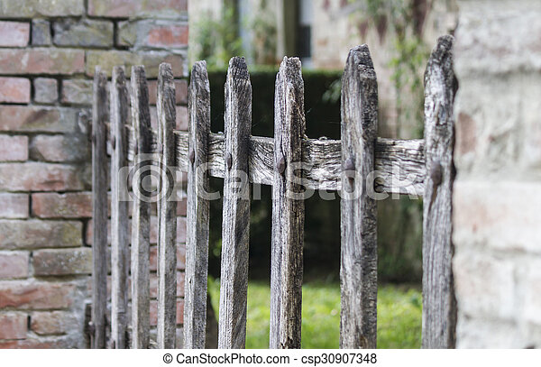 wooden fence - csp30907348
