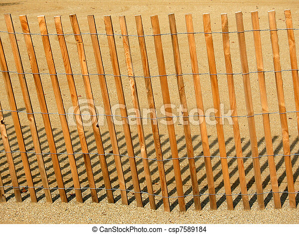 Wooden fence - csp7589184