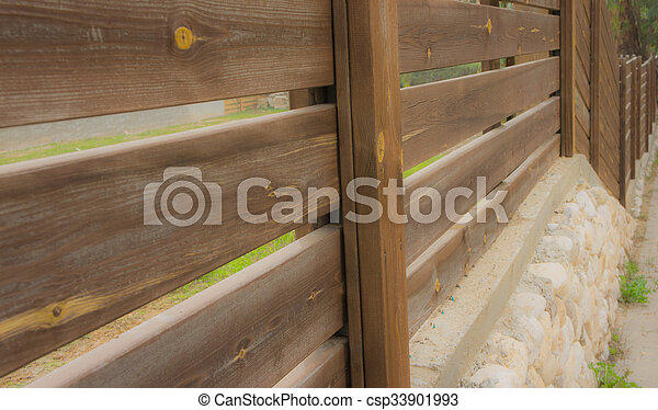wooden fence - csp33901993