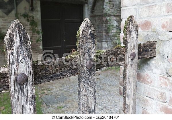 wooden fence - csp20484701