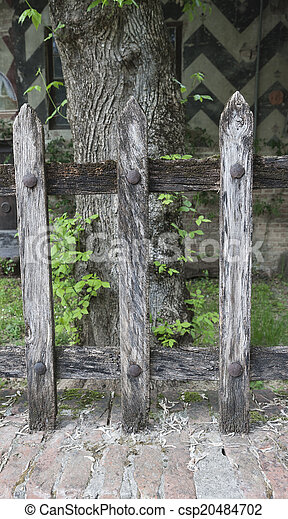 wooden fence - csp20484702
