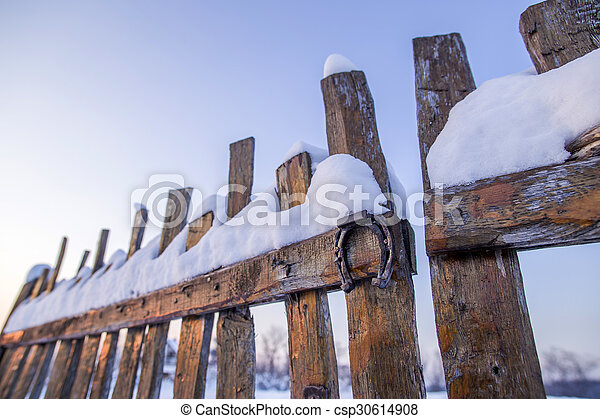 Wooden fence - csp30614908
