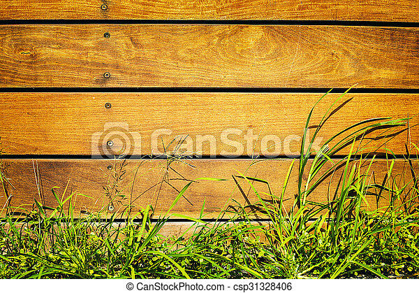 wooden fence - csp31328406