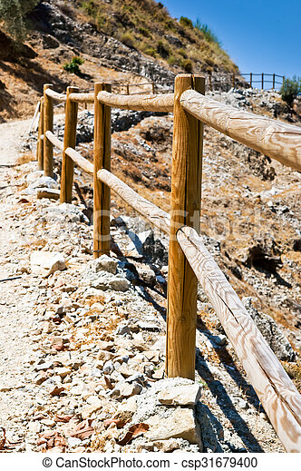 Wooden fence - csp31679400