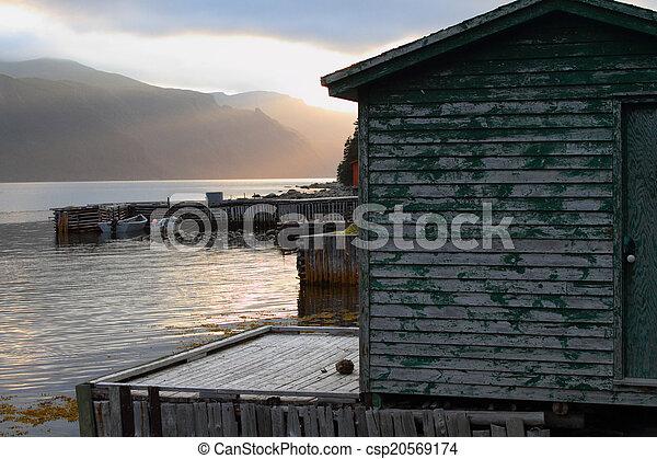 Wooden fishing shack - csp20569174