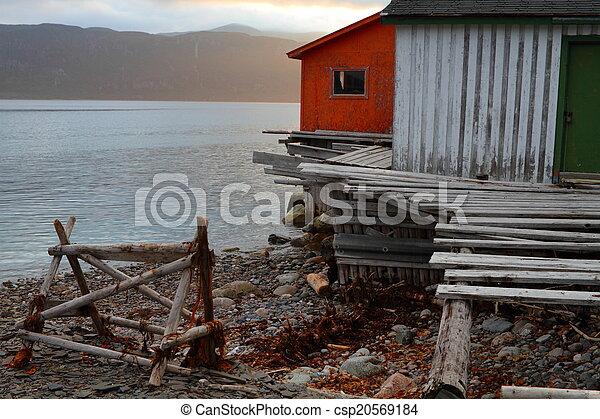 Wooden fishing shack - csp20569184