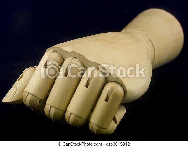 Wooden fist - csp0015912