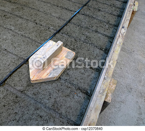 wooden float - csp12370840