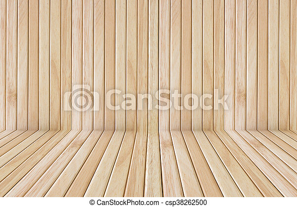 Wooden Floor Stage And Wall For Display Background