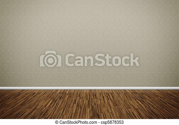wooden floor - csp5878353