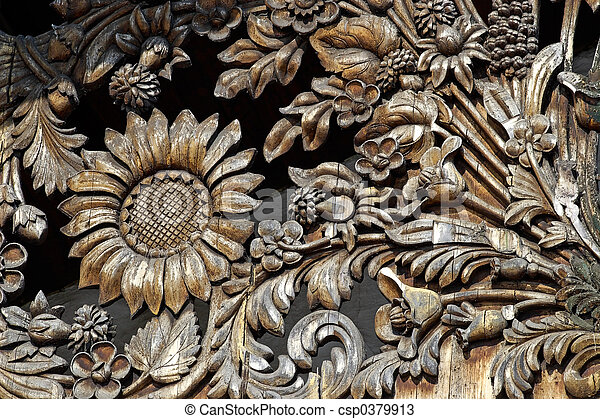 Wooden Flower Pattern Manual Woodcarving
