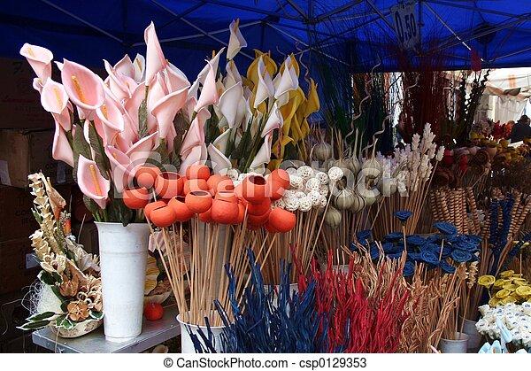 Wooden flowers shop - csp0129353