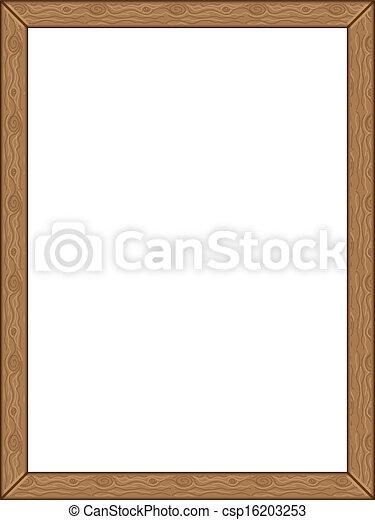wooden frame vector - Natural Wood Frame