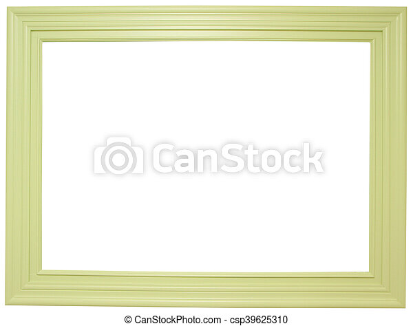 Wooden frame isolated on white background - csp39625310