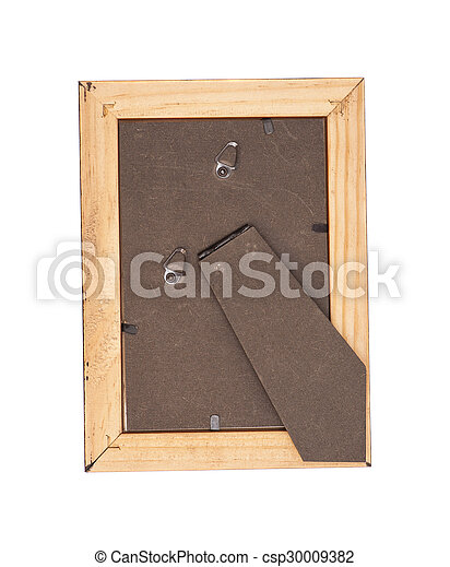 wooden frame isolated on white background - csp30009382