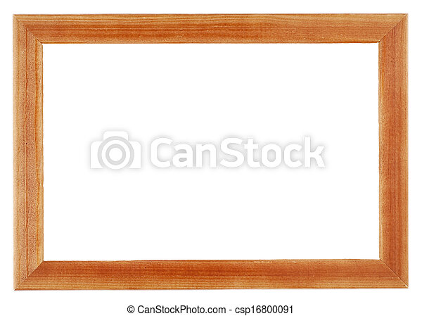 wooden frame isolated on white background - csp16800091