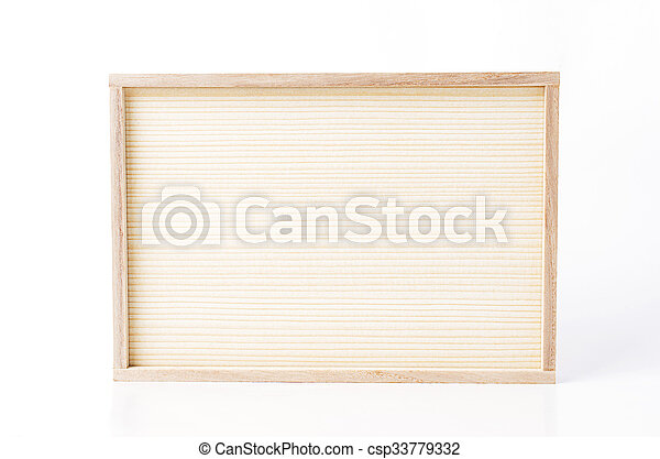 Wooden frame Isolated on white backgrounds - csp33779332