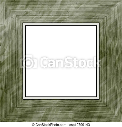 Wooden frame. Square high quality high resolution plain wooden frame.