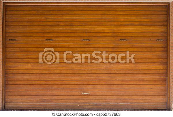 Wooden garage door texture for your design