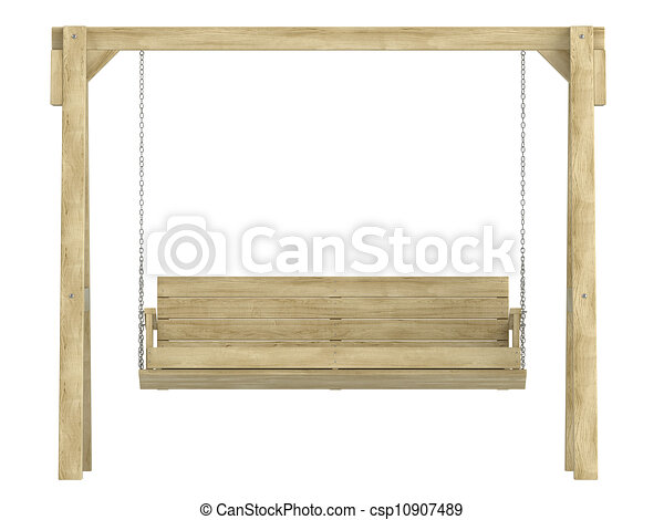 Wooden Garden Swing Bench With A Sturdy A Frame