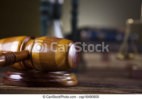 Wooden gavel, law concept - csp16490600