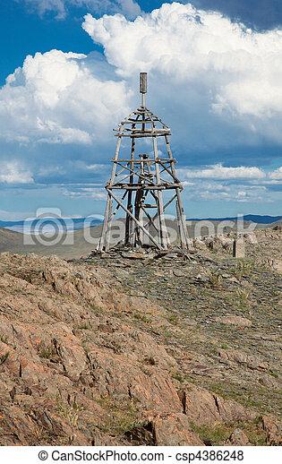 Wooden geodesic tower - csp4386248