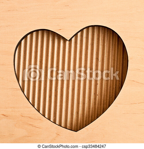 Wooden Heart Frame Wooden Frame In The Shape Of Heart On Carton