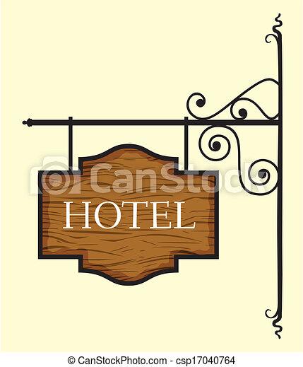 Wooden Hotel Door Sign Vector