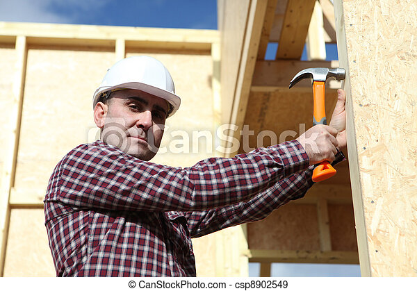 Wooden house are on the rise - csp8902549