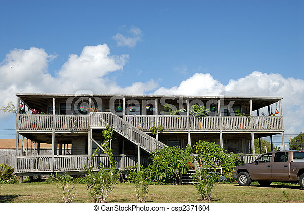 Wooden house in the southern United States - csp2371604