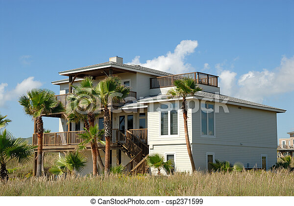 Wooden house in the United States - csp2371599
