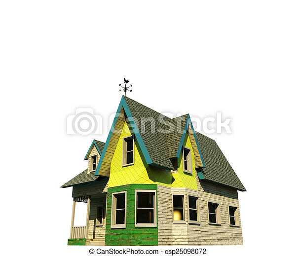 wooden house - csp25098072