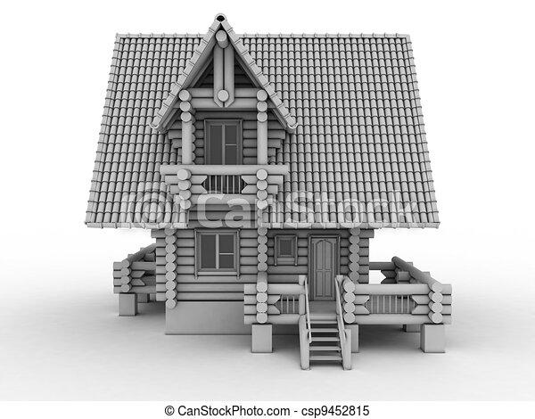 wooden house   - csp9452815
