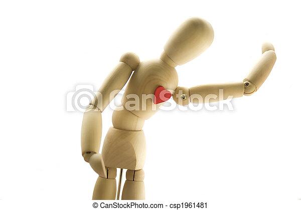 Wooden human Dummy - csp1961481
