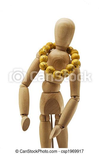 Wooden human dummy - csp1969917