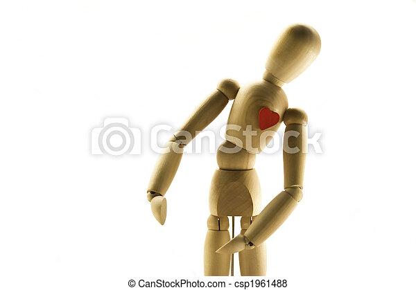 Wooden human Dummy - csp1961488