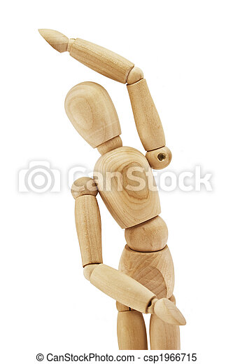 Wooden human dummy - csp1966715