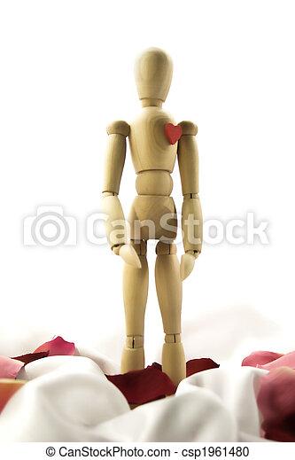 Wooden human Dummy - csp1961480