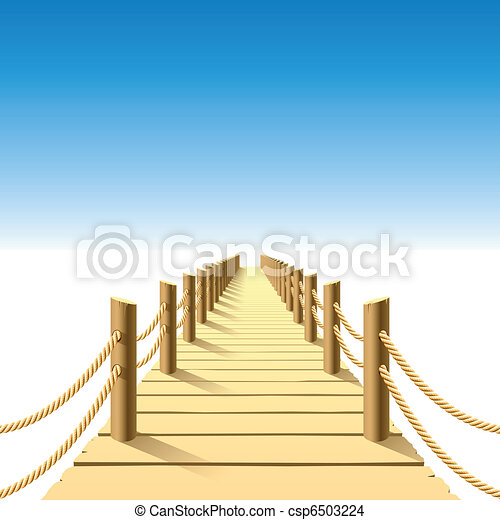 Wooden jetty - csp6503224