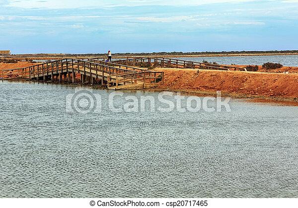 wooden jetty over a calm sea - csp20717465