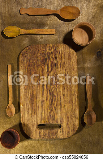 Wooden Kitchen Accessories Wooden Kitchen Accessories On A Wooden Table Canstock