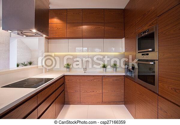 Wooden kitchen cabinet - csp27166359