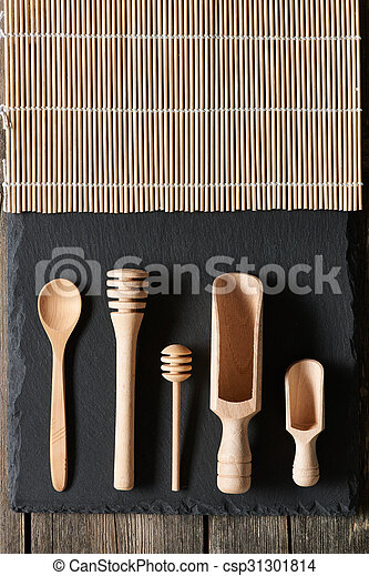 Wooden kitchen utensils - csp31301814
