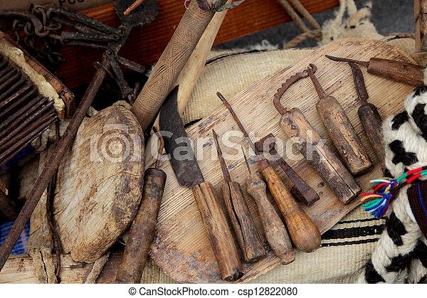 Wooden kitchen utensils - csp12822080