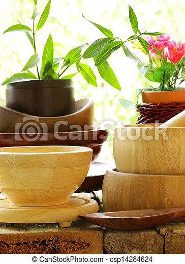 Wooden kitchen utensils  - csp14284624
