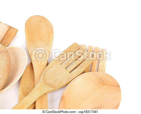 Wooden Kitchen Utensils - csp18317441