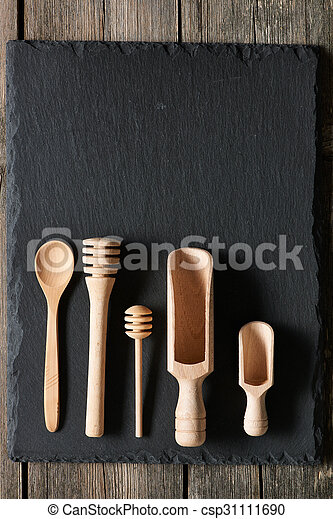 Wooden kitchen utensils - csp31111690