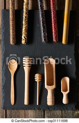 Wooden kitchen utensils - csp31111698